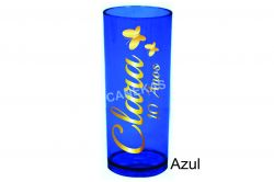Copo long drink (várias cores)  personaliz metalizada (espelhada)