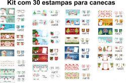 Artes Digitais 30 estampas Natal para canecas