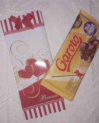 Embalagem Personaliz para Barra de Chocolate (100g)